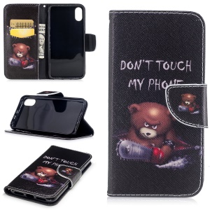 Pattern Printing Wallet Leather Magnetic Case for iPhone 8 - Brown Bear