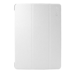 ENKAY Silk Texture Smart Tri-fold Stand Leather Cover for iPad Air 10.5 (2019) / Pro 10.5 (2017) - White