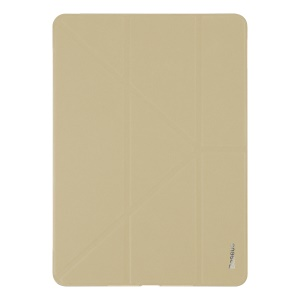 BASEUS for iPad Pro 12.9 (2017) Y-type Smart Leather Tri-fold Stand Origami Cover - Khaki