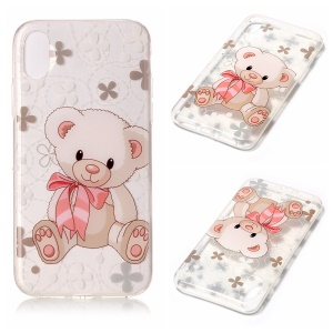 For iPhone8 Clear IMD TPU Gel Phone Cover - Bear Doll