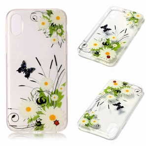 For iPhone8 Clear IMD TPU Gel Case Cover - Daisies