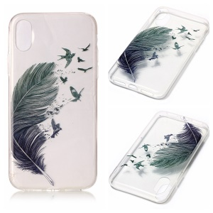 Clear IMD Gel TPU Phone Back Shell for iPhone8 - Feather