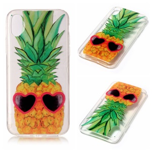 For iPhone8 Clear IMD TPU Gel Slim Cover Case - Pineapple