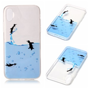 Clear IMD TPU Gel Slim Slip-in Case for iPhone8 - Penguins