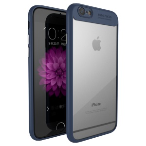 IPAKY TPU Frame + Clear Acrylic Combo Mobile Phone Back Case Cover for iPhone 6S/6 4.7 inch - Blue