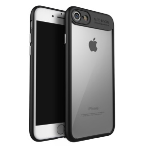 IPAKY Hybrid TPU Frame + Clear Acrylic Phone Casing for iPhone 8 / iPhone 7 4.7 inch - Black