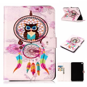 Pattern Printing Embossed Leather Protective Phone Case for iPad mini 4 - Dream Catcher