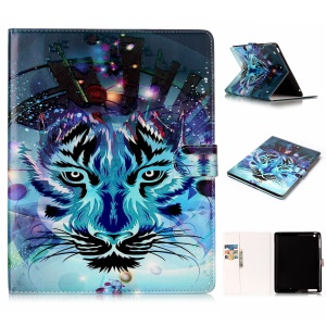 Pattern Printing Embossed Leather Protective Case for iPad 2 / 3 / 4 - Tiger