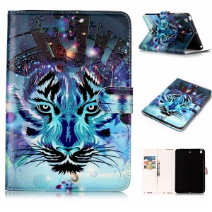 Pattern Printing Embossed Leather Protective Case for iPad mini 1 / 2 / 3 - Tiger