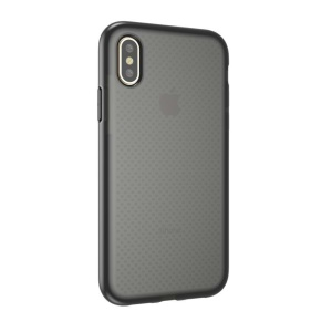 Seamless Dots Gel TPU Phone Case for iPhone XS / X / 10 5.8 inch - Black