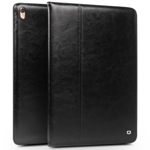 QIALINO Classic Genuine Leather Auto Wake & Sleep Stand Case for iPad Pro 10.5 (2017) - Black