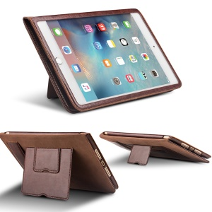QIALINO Classic Genuine Cowhide Leather Shell for iPad Air 2 - Brown