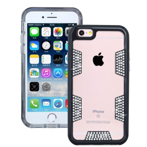 Diamond Decorated Shock Proof Protective TPU + PC Case for iphone 6 / 6s - Black