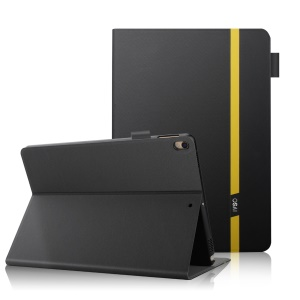 Color Blocking Smart Stay Leather Cover Case with Stand for iPad Pro 10.5 (2017) - Black