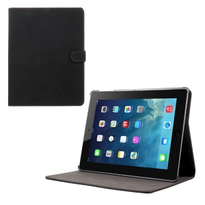 Custodia Per Tablet In Pelle Opaca Retro Opaca Con Supporto Per Ipad 4 3 2 - Nero