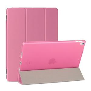 For iPad Air 10.5 (2019) / Pro 10.5 (2017) Tri-fold Stand Detachable 2-in-1 PU Leather Case Cover - Pink