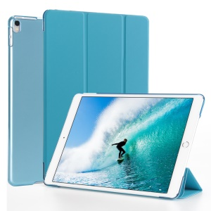 Tri-fold Stand Auto-wake/sleep Leather Smart Protector Shell for iPad Pro 10.5 (2017) - Baby Blue