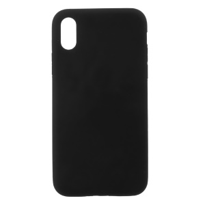 Soft Silicone Matte Fingerprint-free Back Mobile Cover foriPhone X/XS 5.8 inch - Black