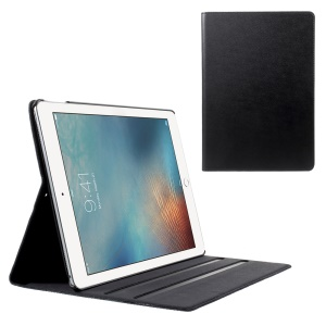 DOORMOON Genuine Leather Stand Case for iPad Pro 10.5 inch (2017) - Black