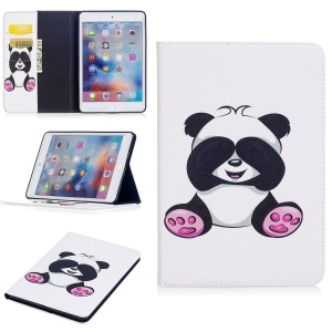 Pattern Printing Wallet Leather Stand Case for iPad mini 4 - Shy Panda