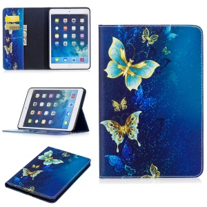 Pattern Printing Leather Stand Case for iPad Mini 3/2/1 - Butterfly Pattern
