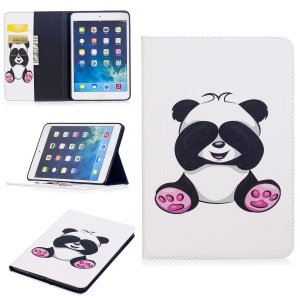 Pattern Printing Leather Stand Case with Card Slots for iPad Mini 3/2/1 - Adorable Panda