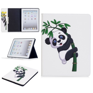 Pattern Printing Folio Flip Leather Case Shell with Card Slots for iPad 4/3/2 - Adorable Panda