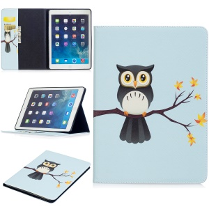 Pattern Printing Wallet Stand Leather Protection Case for iPad Air - Lovely Owl
