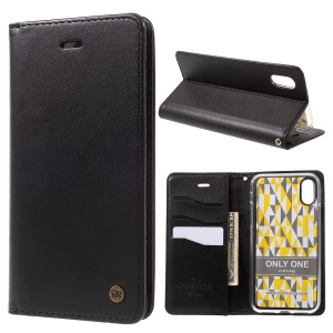 ROAR KOREA ONLY ONE Leather Wallet Stand Case for iPhone X 5.8 inch - Black