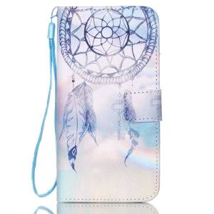 Faux Leather Card Holder Stand Shell for Samsung Galaxy S6 Edge G925 - Dream Catcher