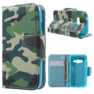 Wallet Leather Stand Case for Samsung Galaxy Trend 2 Lite G318H / V Plus G318 / Trend 2 G313 - Camouflage