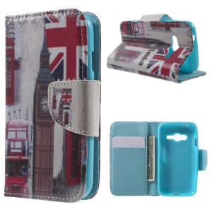 Wallet Leather Cover Case for Samsung Galaxy Trend 2 Lite G318H / V Plus G318 / Trend 2 G313 - Union Jack & Big Ben