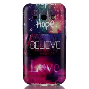 Soft IMD TPU Shell Cover Case for Samsung Galaxy J1 / J1 4G - Hope Believe Love