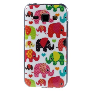 Soft TPU Protective Case for Samsung Galaxy J1 / J1 4G - Colorful Elephants
