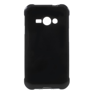 Glossy Candy Soft TPU Case Cover for Samsung Galaxy J1 Ace SM-J110 - Black