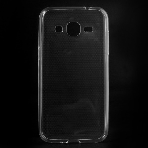 Ultra-thin Soft TPU Skin Cover for Samsung Galaxy J2 SM-J200 with Non-slip Inner - Transparent