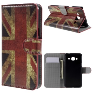 Wallet Stand Protective Leather Case for Samsung Galaxy J3 / J3 (2016) - Vintage UK Flag