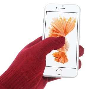 IGLOVE Interwoven Touch Screen Gloves for iPhone iPad and Capacitive Touchscreen Devices - Red