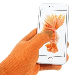 IGLOVE Interwoven Touch Screen Gloves for iPhone iPad and Capacitive Touchscreen Devices - Orange