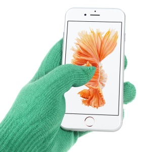 IGLOVE Interwoven Touch Screen Gloves for iPhone iPad and Capacitive Touchscreen Devices - Green