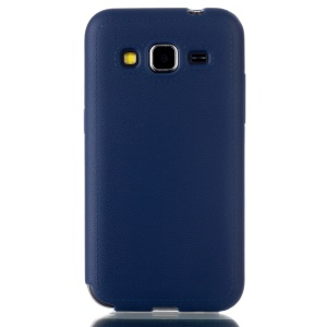 Leather Texture Slim TPU Skin Cover for Samsung Galaxy Core Prime SM-G360 - Blue