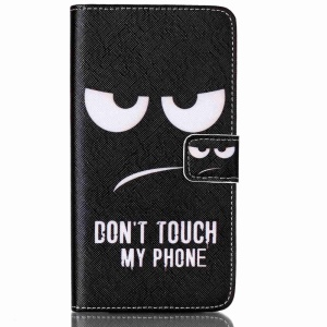 Flip Wallet Stand Leather Case for Samsung Galaxy J7 SM-J700F - Do Not Touch My Phone