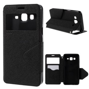 ROAR KOREA Diary View Window for Samsung Galaxy On5 Leather Stand Case - Black