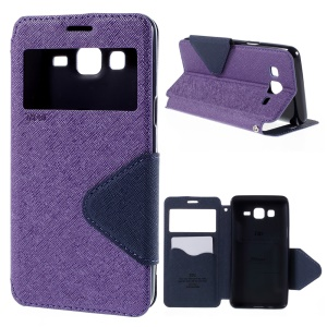 ROAR KOREA Diary View Window for Samsung Galaxy On5 Leather Stand Cover - Purple
