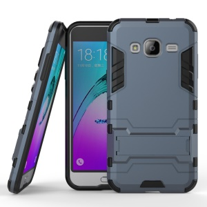 PC TPU Combo Case with Kickstand for Samsung Galaxy J3 / J3 (2016) - Dark Blue