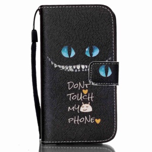 Leather Phone Case for Samsung Galaxy S4 mini I9190 - Do Not Touch My Phone