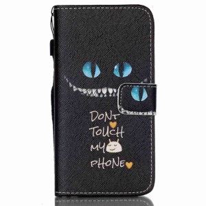 Stand Leather Shell Cover for Samsung Galaxy S6 Edge G925 - Do Not Touch My Phone