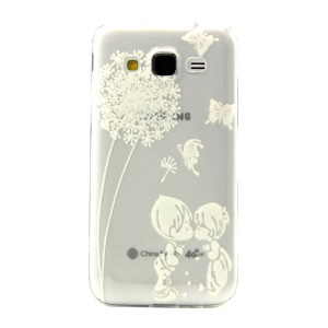 Embossed Gel Back Case for Samsung Galaxy Core Prime SM-G360 - Kissing Lovers