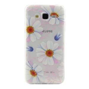 Slim TPU Gel Cover for Samsung Galaxy J2 SM-J200 - Daisy Flowers