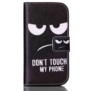 Leather Flip Case for Samsung Galaxy Core Plus G3500 G3502 - Do Not Touch My Phone